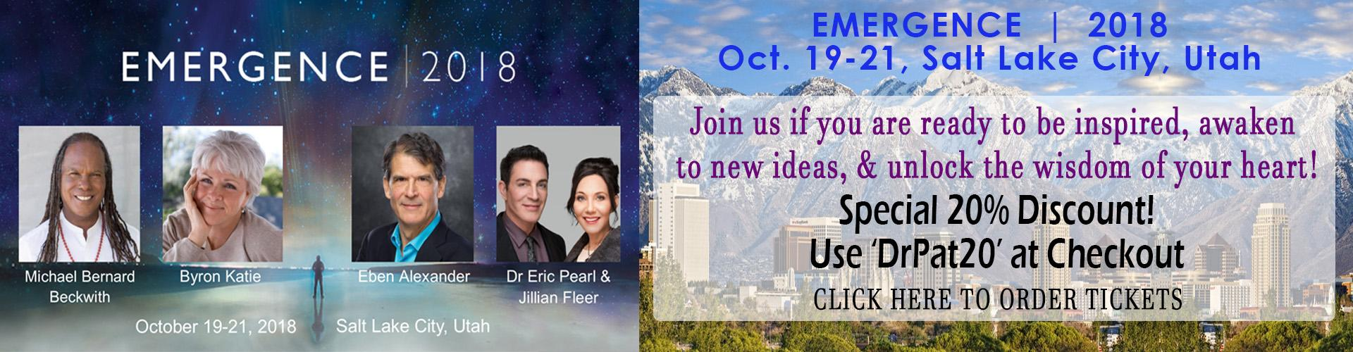 Emergence 2018: October 19-21, Salt Lake City, Utah